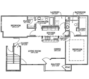 Floorplan-2Bd/2Bath